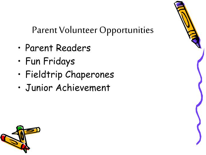 Parent Volunteer Opportunities