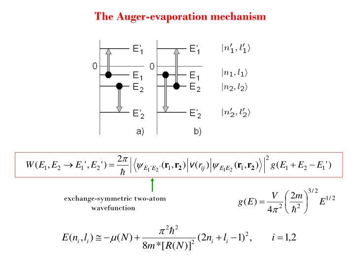 The Auger-evaporation mechanism