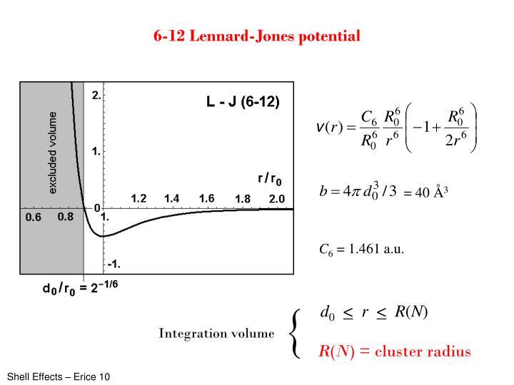 6-12 Lennard-Jones potential
