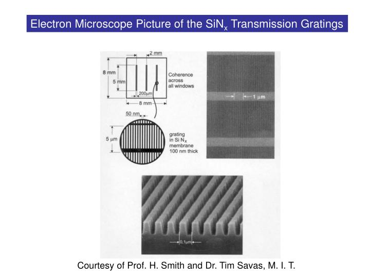 Electron Microscope Picture of the SiN