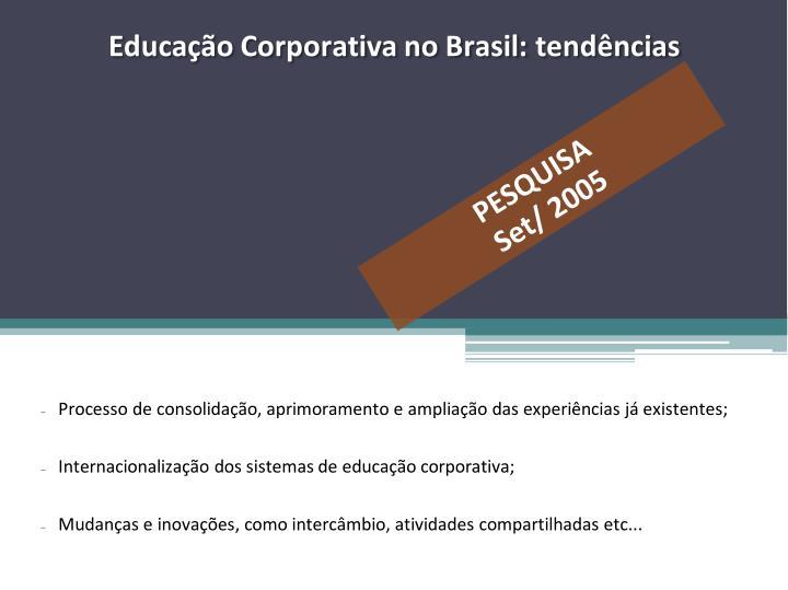 Educação Corporativa no Brasil: