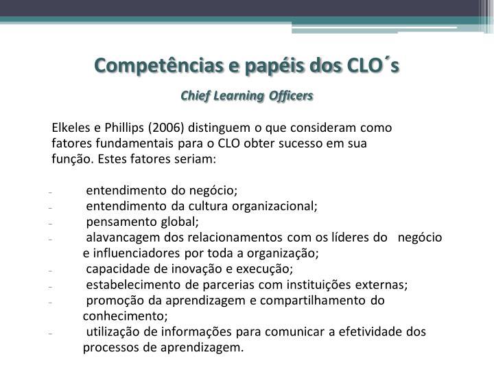 Competências e papéis dos