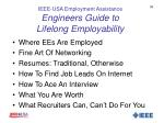 ieee usa employment assistance engineers guide to lifelong employability