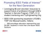 promoting ieee fields of interest for the next generation