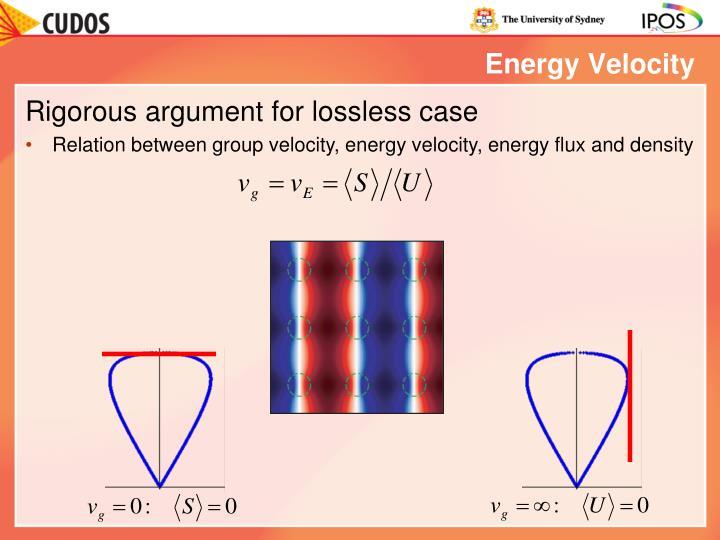 Energy Velocity
