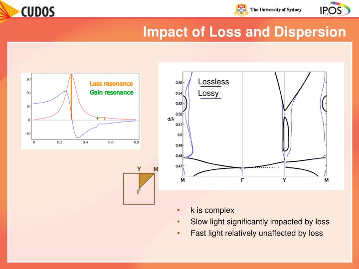 Impact of Loss and Dispersion
