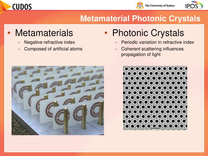Metamaterial Photonic Crystals