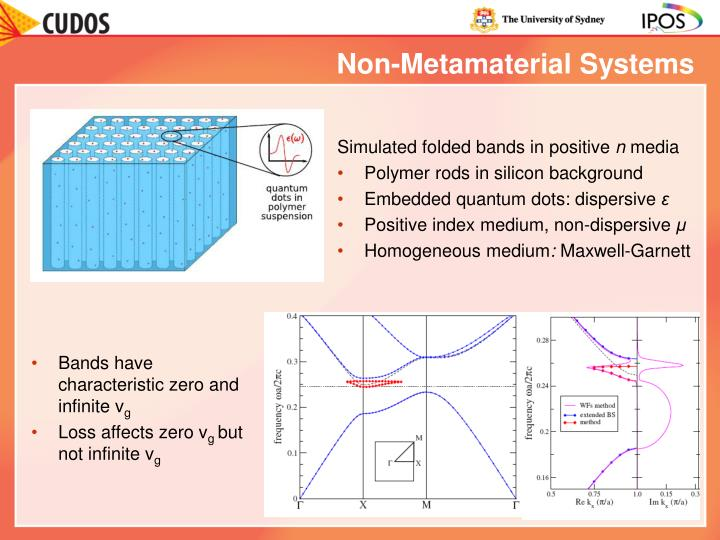 Non-Metamaterial Systems