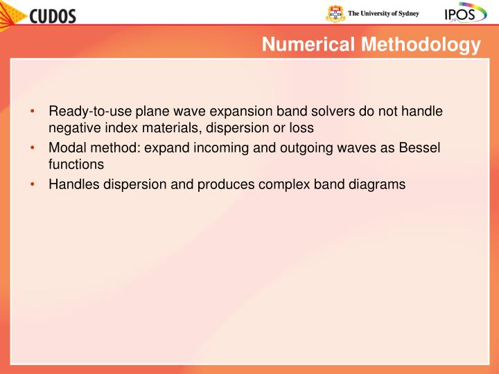 Numerical Methodology