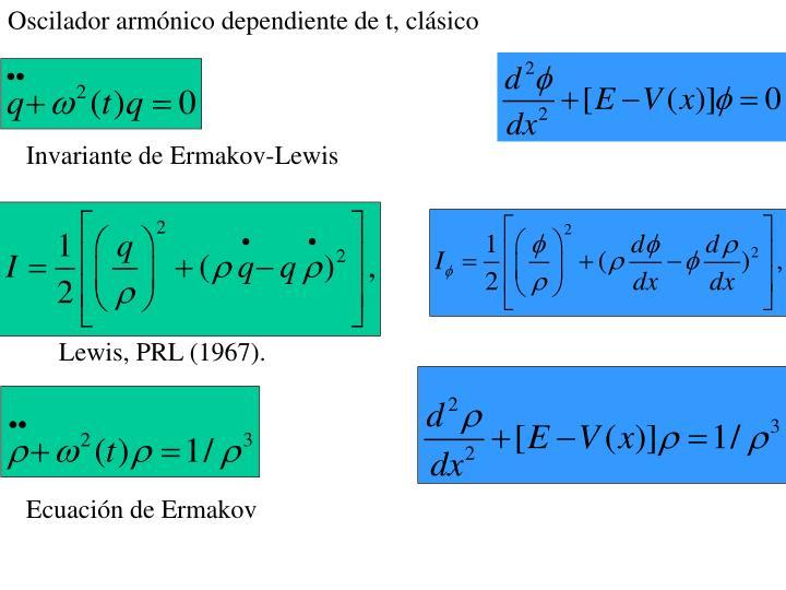 Oscilador armónico dependiente de t, clásico