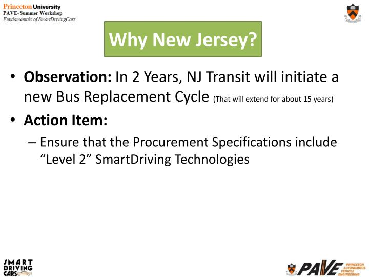 Why New Jersey?