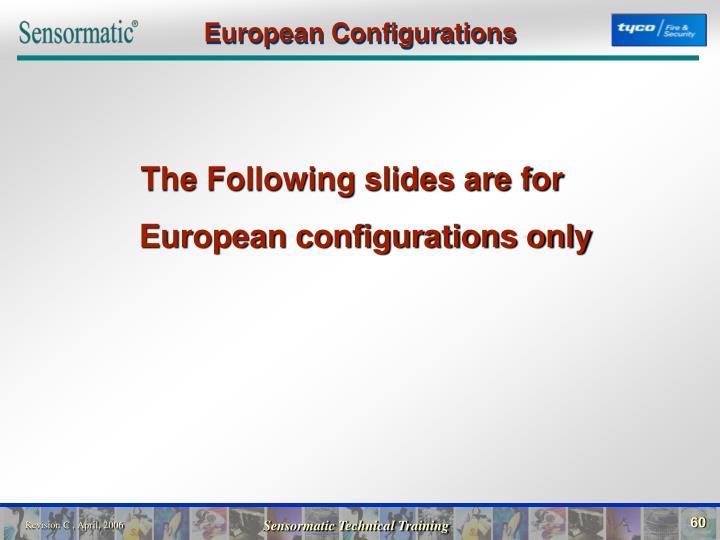 European Configurations
