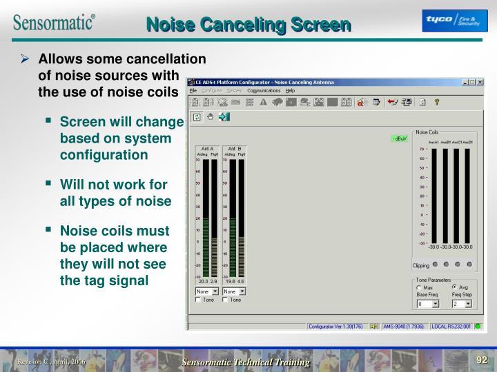 Noise Canceling Screen