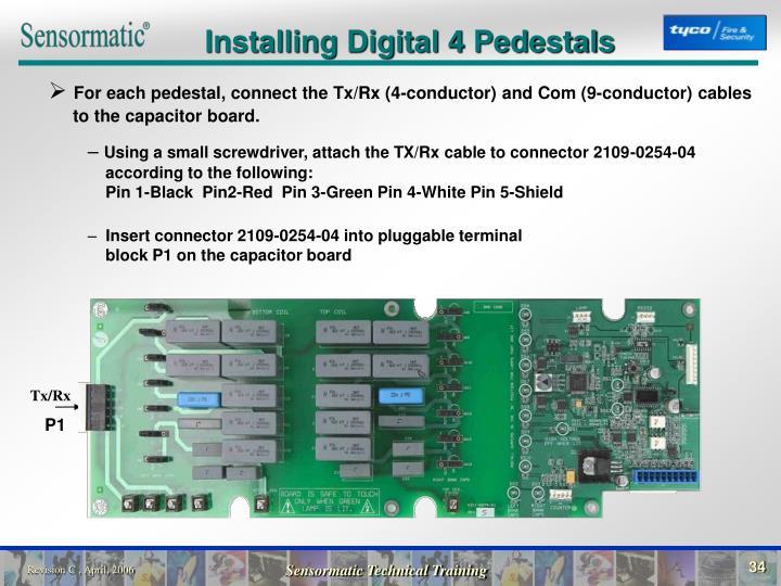 Installing Digital 4 Pedestals