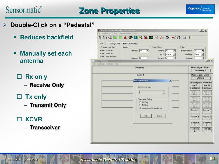 Zone Properties