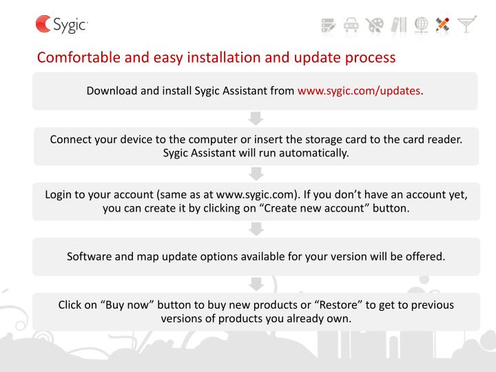 Comfortable and easy installation and update process