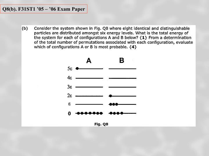 Q8(b). F31ST1 '05 – '06 Exam Paper