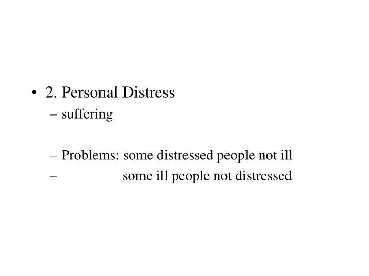 2. Personal Distress