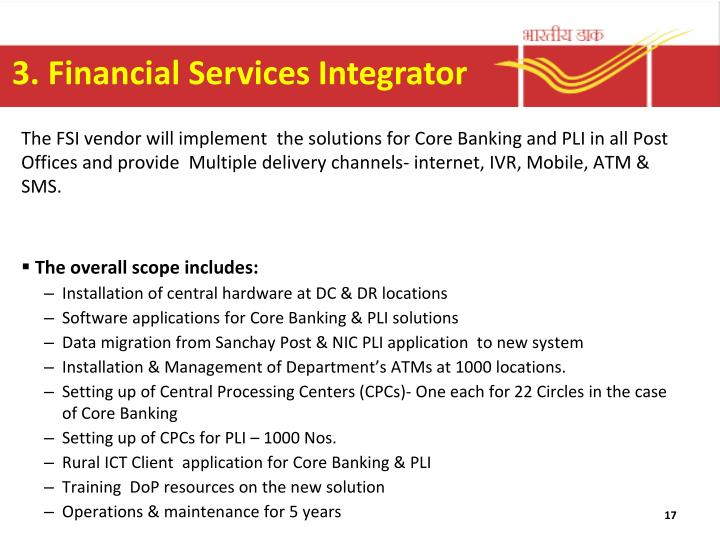 3. Financial Services Integrator