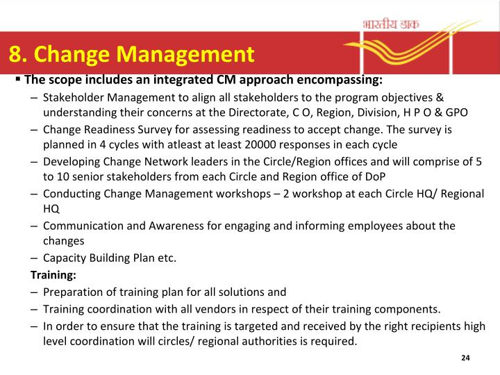 8. Change Management