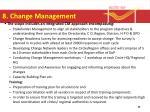 8 change management