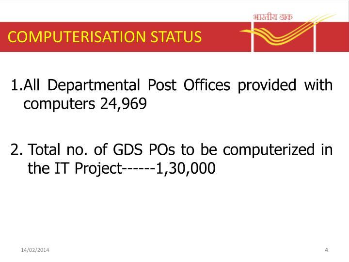 COMPUTERISATION STATUS
