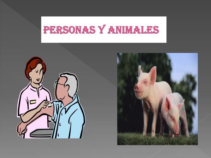 Personas y animales