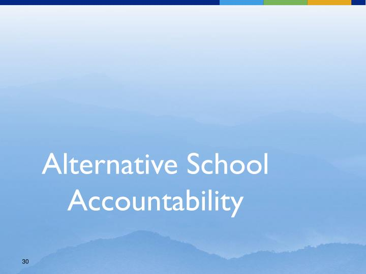 Alternative School Accountability