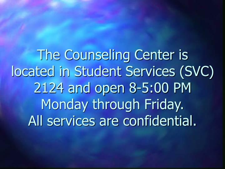 The Counseling Center is