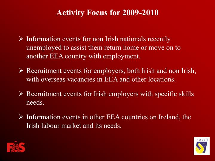 Activity Focus for 2009-2010