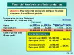 comparative income statement december 31 2003 and 2002