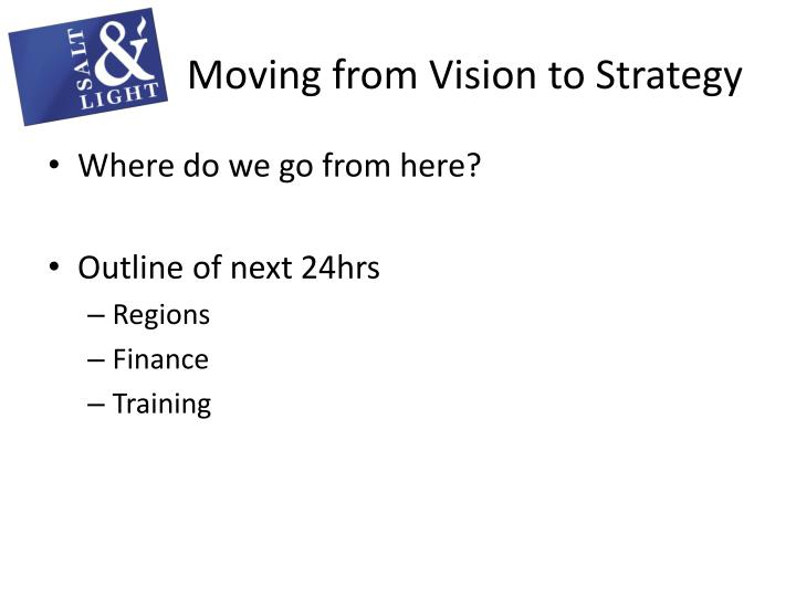 Moving from Vision to Strategy