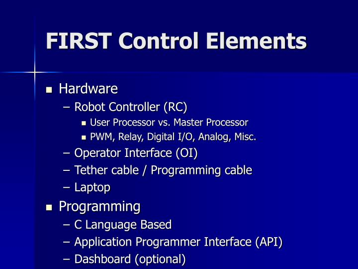 FIRST Control Elements