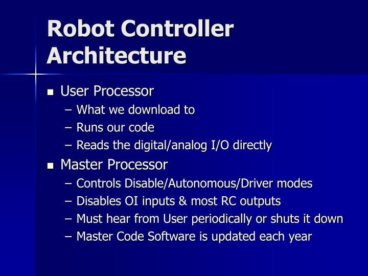 Robot Controller Architecture