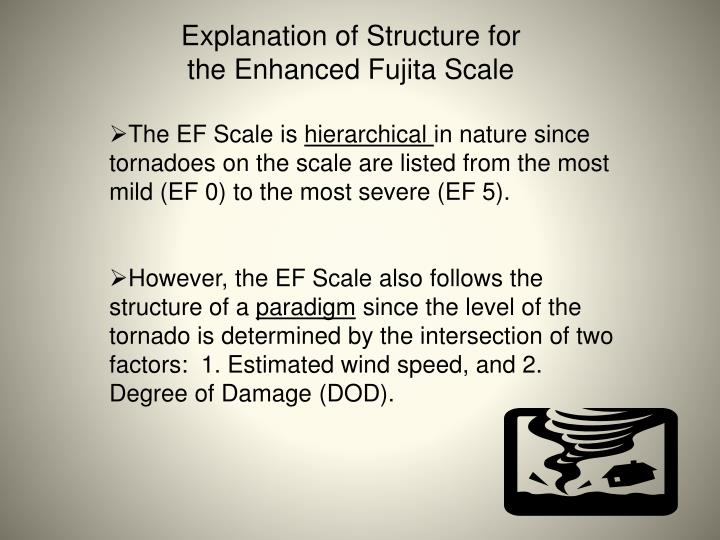 Explanation of Structure for the Enhanced Fujita Scale