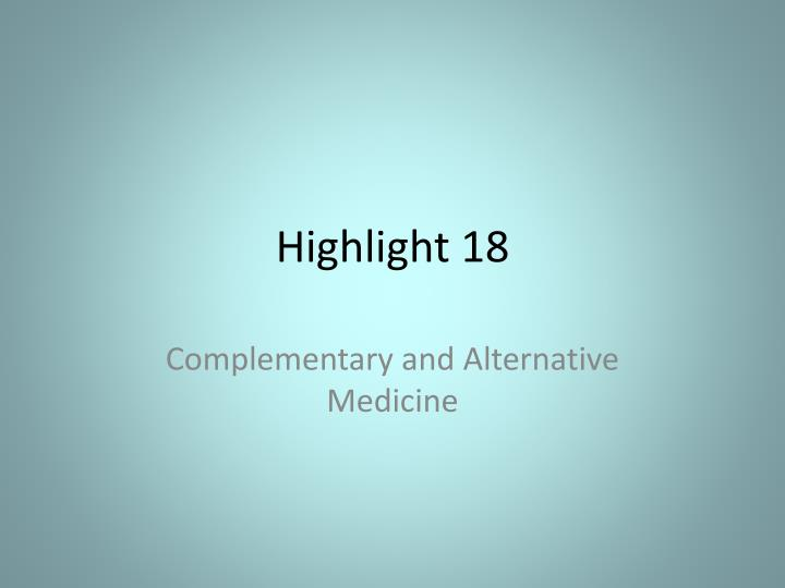 Highlight 18