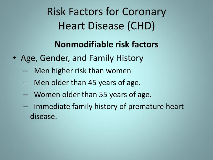 Risk Factors for Coronary