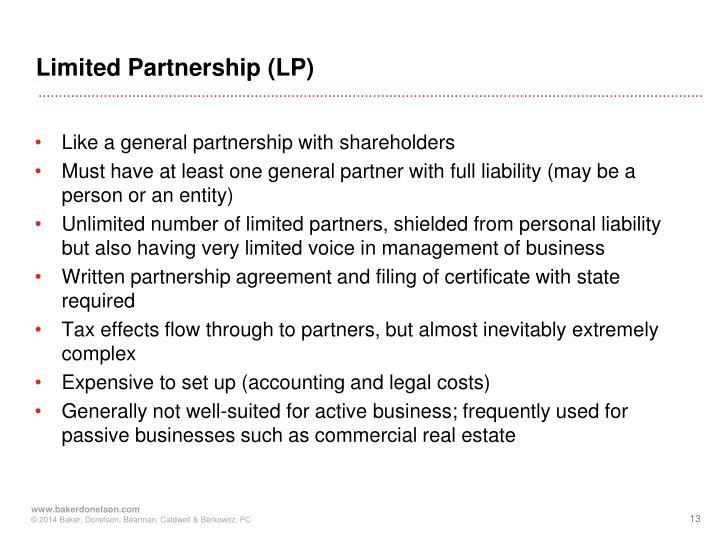 Limited Partnership (LP)