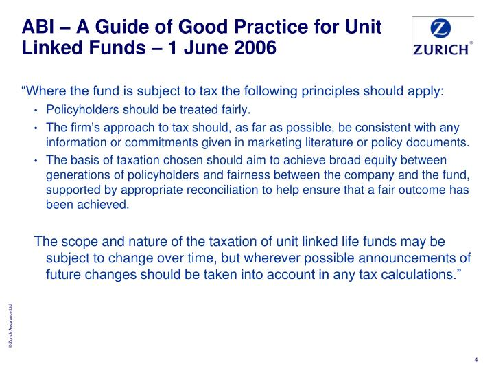 ABI – A Guide of Good Practice for Unit Linked Funds – 1 June 2006