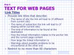 step 8 text for web pages4