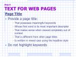 step 8 text for web pages5