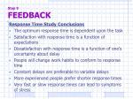 step 9 feedback