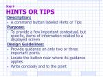 step 9 hints or tips