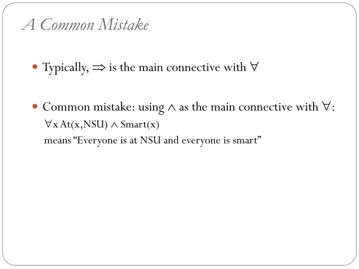 A Common Mistake
