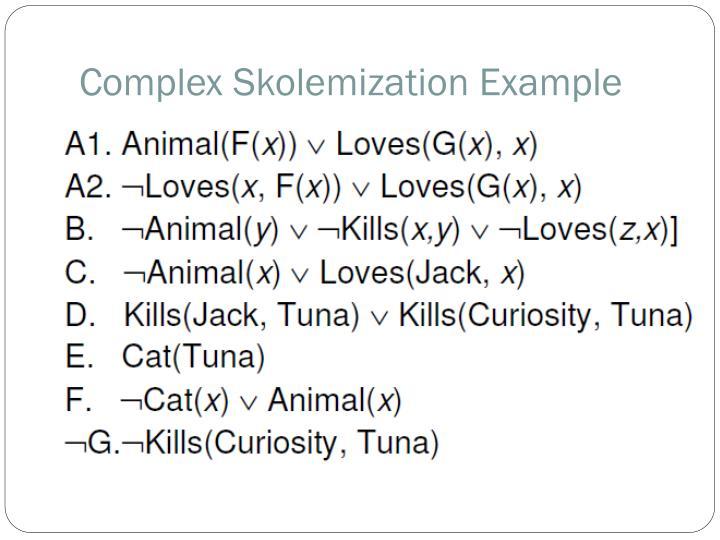 Complex Skolemization Example