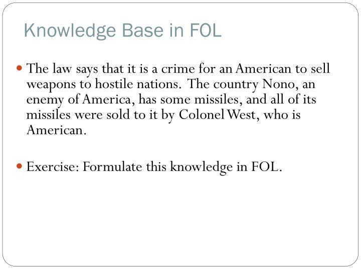 Knowledge Base in FOL