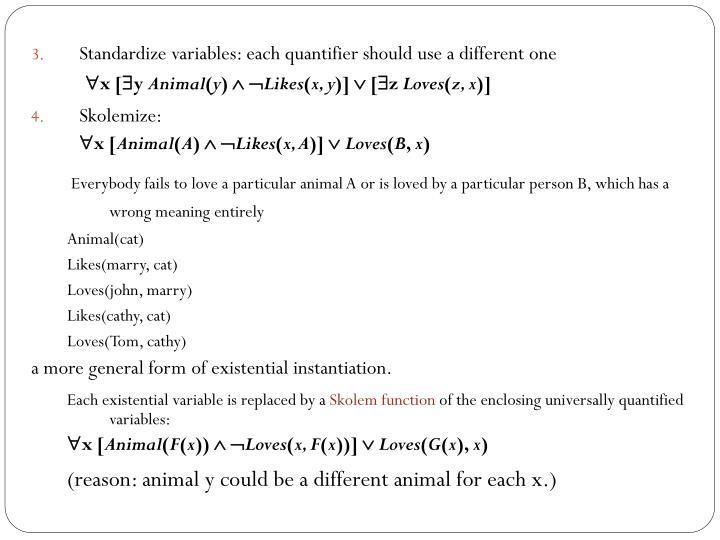 Standardize variables: each quantifier should use a different one