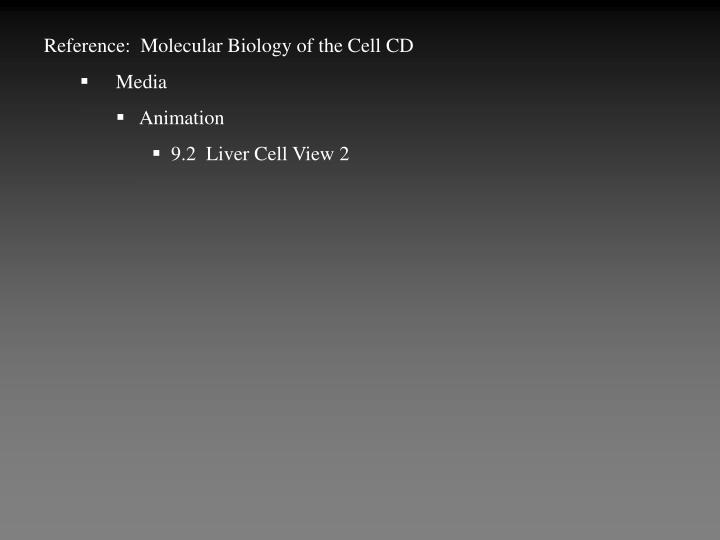 Reference:  Molecular Biology of the Cell CD