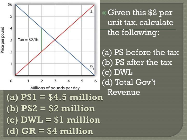 (a) PS1 = $4.5 million