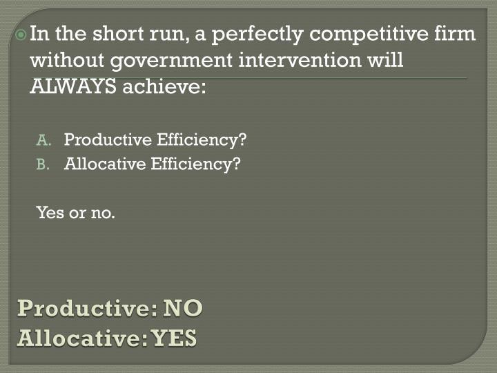 Productive: NO